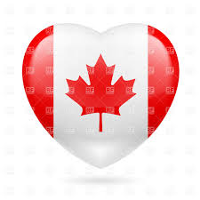 Candaian Flag Heart With Canadian Flag Colors I Love Canada Royalty Free Vector