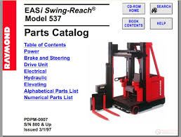 raymond forklift parts catalogs rsb u0026 rpin 06 1999 auto