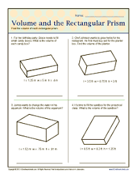 volume and the rectangular prisms