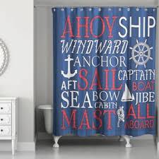 Shower Curtain Nautical Nautical Shower Curtain With Unique Sea Detail Cafemomonh Home