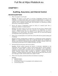 solutions manual information technology auditing assurance 2nd