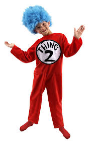 cat halloween costumes for kids amazon com elope dr seuss thing 1 or thing 2 kids costume clothing