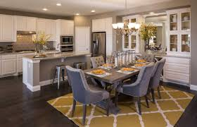 i ll take all the storage kitchen dining room combo pinterest we love how the built ins mirror the kitchen cabinets and provide even more room union park little elm tx highland homes plan 556