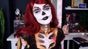 pin up ghoul halloween look youtube