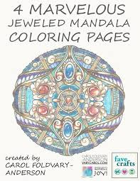 4 marvelous jeweled mandala coloring pages favecrafts