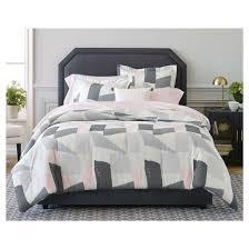 gray u0026cream painterly color block comforter set nate berkus target