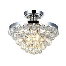 Home Depot Decorators Collection Home Decorators Collection 4 Light Chrome And Crystal Flushmount