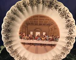 lord s supper plates sanders mfg etsy