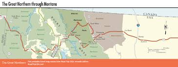 Washington State Road Map by The Great Northern Route Us 2 Road Trip Usa