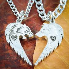 custom necklaces for couples wolf and fox necklaces namecoins