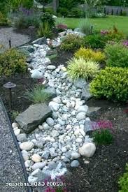 River Rock Garden Bed Landscape Rock Border Ideas Mreza Club