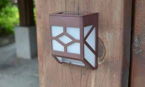 Solar Wall Sconce Solar Powered Wall Sconce Light Groupon Goods