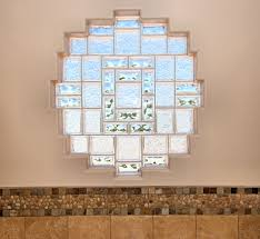 glass block windows bathroom contemporary with marble master