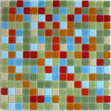 green glass mosaic tile number nine brio modwalls modern tile