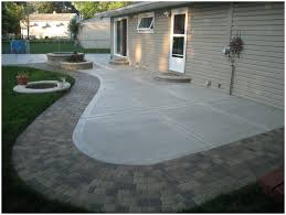 backyards bright concrete paver patio designs cool ideas green