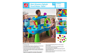 step 2 rain showers splash pond water table step 2 water table