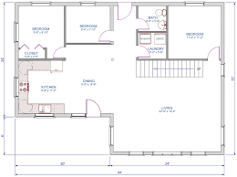 Google Sketchup Floor Plan by 1248 Sqft L Shape A