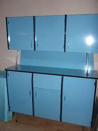buffet cuisine formica cuisine vintage complète formica bleu table 0 80 x 1 20 avec