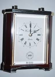 vintage wiron clock co mantle nightstand clock quartz w germany as