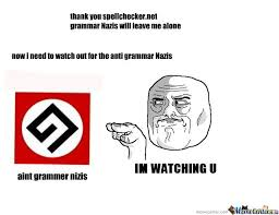 Grammar Nazi Memes - anti grammar nazis by kingmat3 meme center