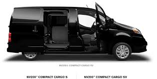 nissan cargo van black nv compact van nissan of vacaville commercial and fleet vehicles