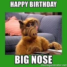 Big Nose Meme - happy birthday big nose alf meme generator