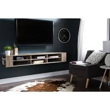 Wall Mounted Entertainment Console South Shore City Life Weathered Oak Media Storage 9062677 The