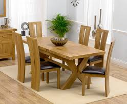 Oak Dining Room Table And Chairs Solid Oak Extending Dining Table And 6 Chairs Delectable Decor
