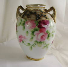 Nippon Hand Painted Vase Hand Painted Vase Roses Ebay