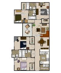 4 bedroom apartment floor plans tivoli apartments in gainesville minutes from university of florida