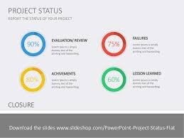 project closure report template ppt project status flat