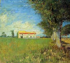farmhouse in a wheat field 1888 vincent van gogh wikiart org