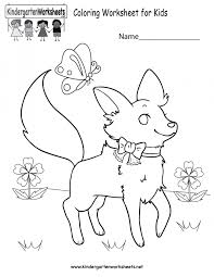 fall coloring pages for kindergarten flower sheets animal