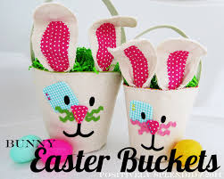 easter buckets canvas bunny easter buckets positively splendid crafts sewing