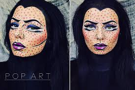 maleficent style comic pop art halloween makeup chloe viv