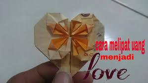 cara membuat origami bunga dari uang kertas origami dari uang kertas
