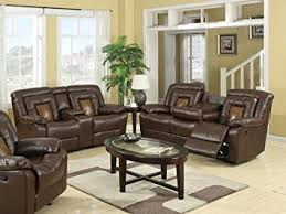 Reclining Sofa And Loveseat by Amazon Com Roundhill Furniture Kmax 2 Toned Dual Reclining Sofa