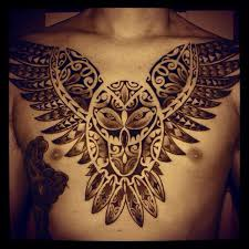Ideas For Chest Tattoos More Tattoo Ideas Owl Chest Tattoos Polynesian Tattoos Owl Tats