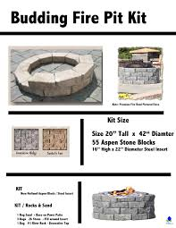 Natural Gas Fire Pit Kit Budding Fire Pit