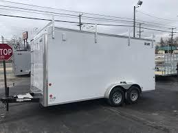enclosed trailer exterior lights enclosed contractor trailer 7 x16 white barn carmate 110v light 12