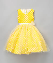 look at this yellow polka dot a line dress infant toddler