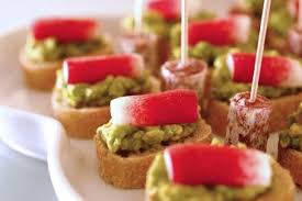cuisine canapé avocado and radish canapés with smoked salt recipe chocolate
