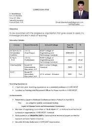 brilliant ideas of sample resume for teachers freshers for format