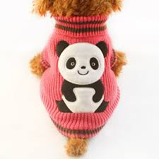 pet sweaters armi store autumn winter panda pattern sweater fashion pet