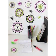 stickers chambre fille ado sticker mural cercles colorés motif formes géométrique pour