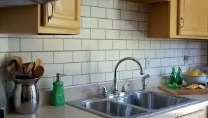painting kitchen backsplash painted subway tile backsplash remodelaholic