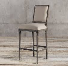 french square fabric stool