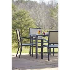 Mainstays Crossman 7 Piece Patio Dining Set Green Seats 6 - cosco outdoor 5 piece serene ridge aluminum patio dining set dark