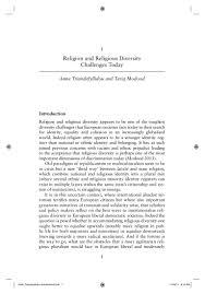 religion and religious diversity anna triandafyllidou and tariq mo u2026