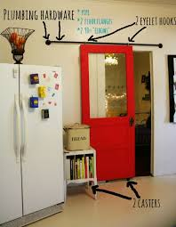 diy sliding barn door way easy and can definitely be temporary